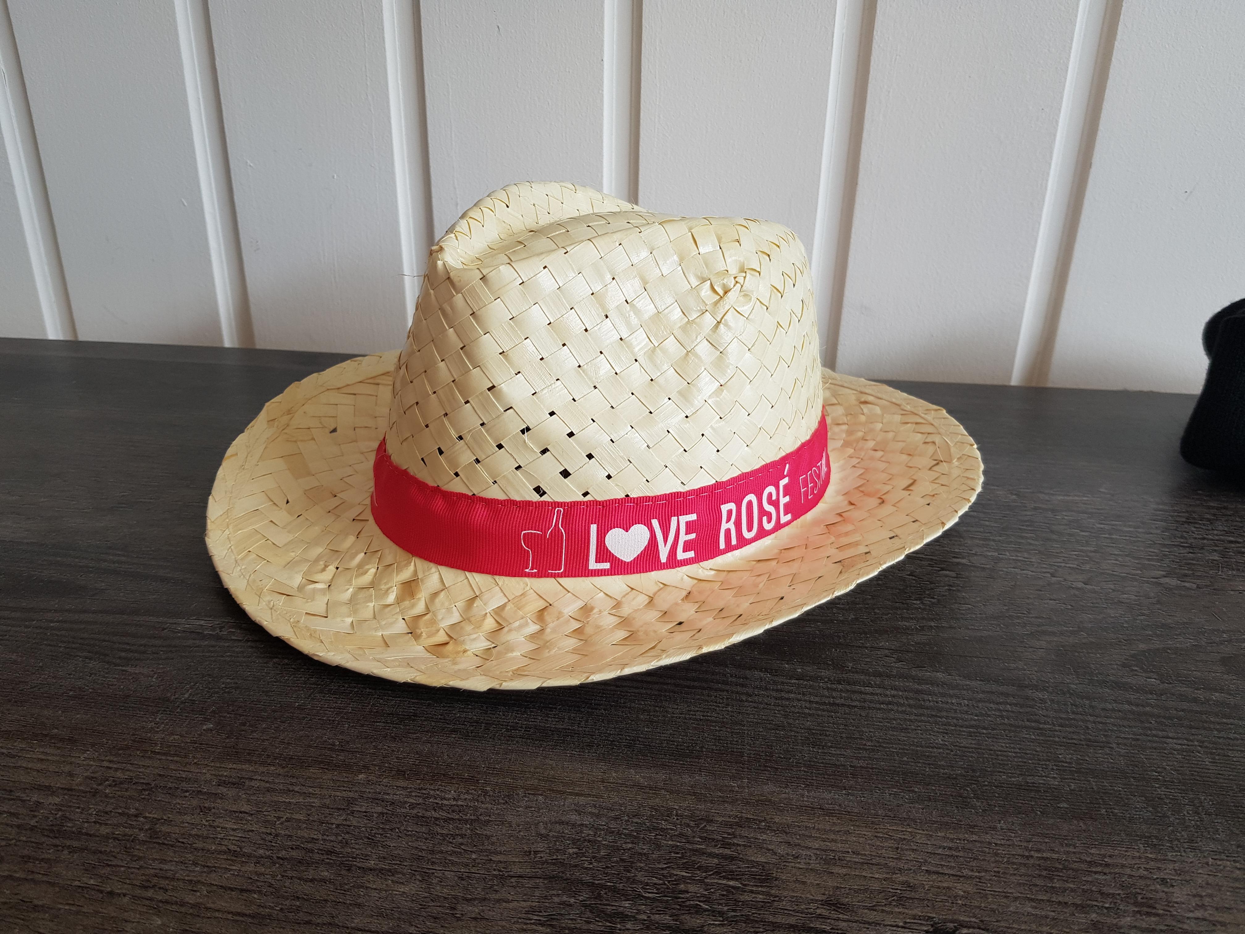 Chapeau de paille bandeau cousu impriméÀ partir de 2€HTà partir de 50 pièces minimum