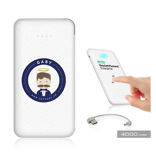 Batterie USB NOMADE 4000 mAhÀ partir de 16,90€HTà partir de 25 pièces minimum